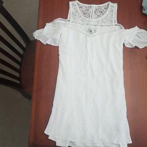 Cream/white off the shoulder dress